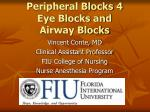 Peripheral Blocks 4 Eye Blocks and Airway Blocks