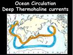 Ocean Circulation Deep Thermohaline currents