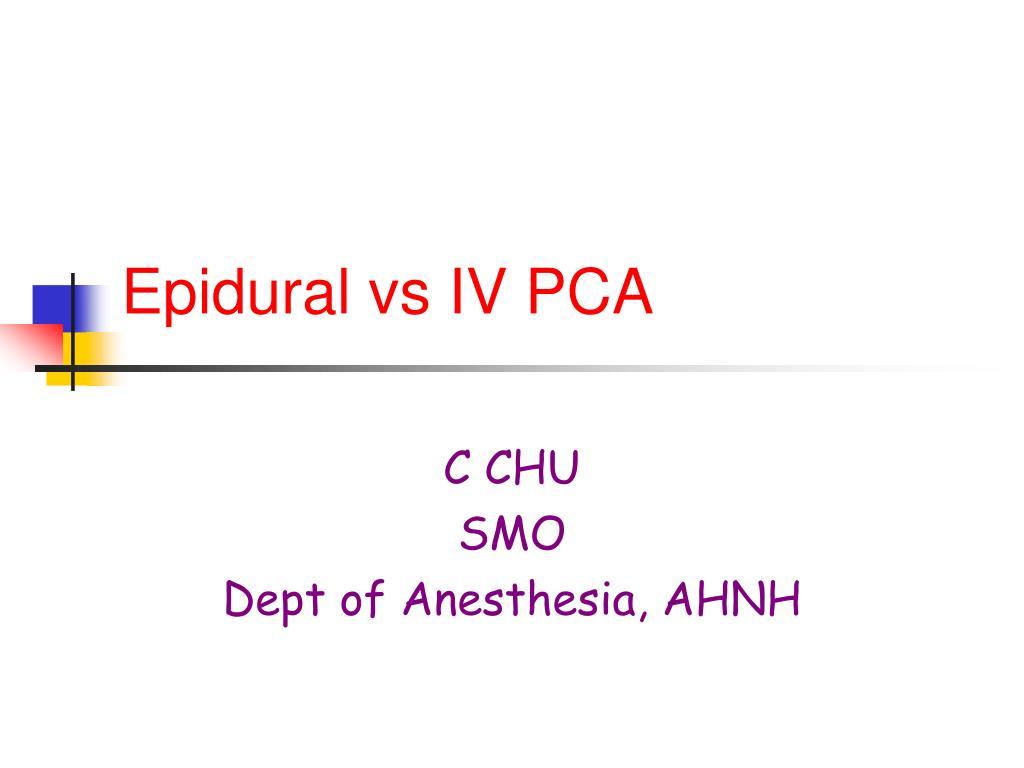 epidural vs iv pca l.