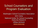 School Counselors and Program Evaluation