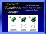 "Chapter 23 ""Functional Groups"""