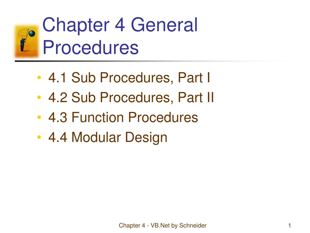 chapter 4 general procedures l.