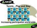 Tennis…Play and Stay