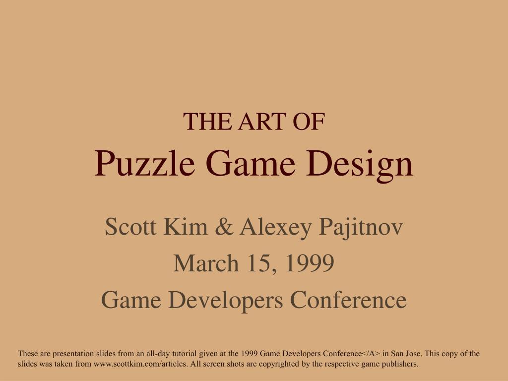 the art of puzzle game design l.