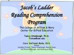 Jacob's Ladder Reading Comprehension Program