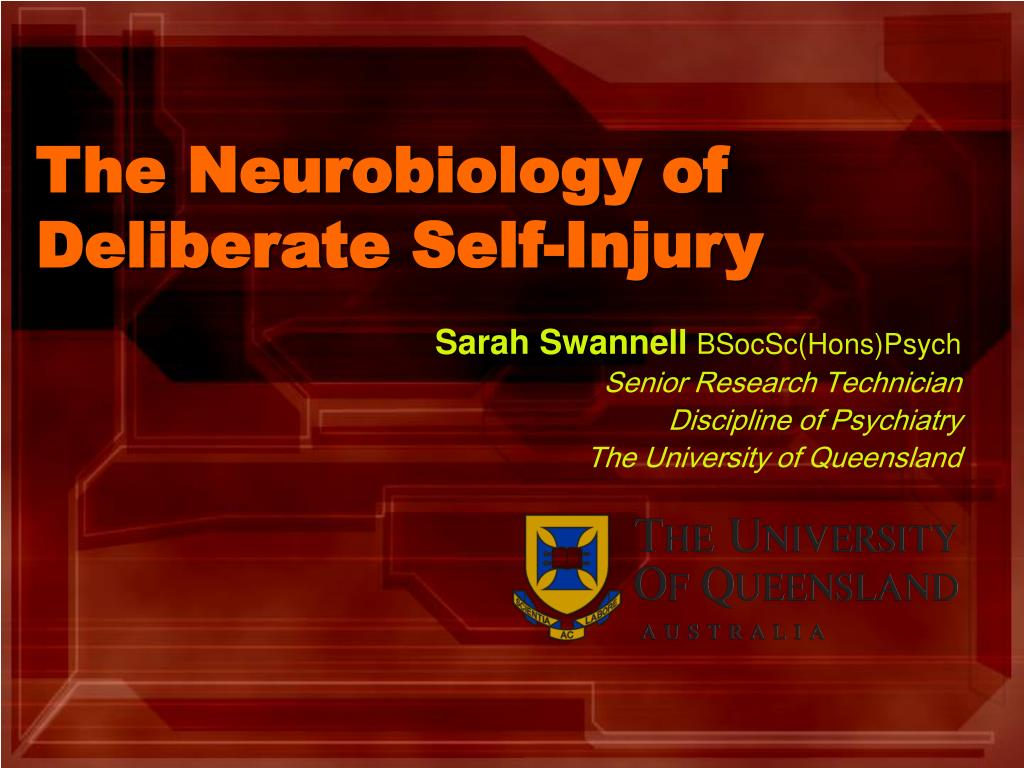 the neurobiology of deliberate self injury l.