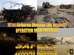 101st Airborne Division (Air Assault) OPERATION IRAQI FREEDOM