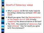 Growth of Democracy: essays