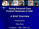 Doing Personal Care Product Business in USA A Brief Overview