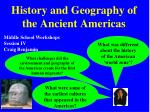History and Geography of the Ancient Americas