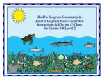 Build a Seagrass Community & Build a Seagrass Food Chain/Web Instructions & Who am I? Clues for Grades 5-8