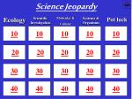 Science Jeopardy