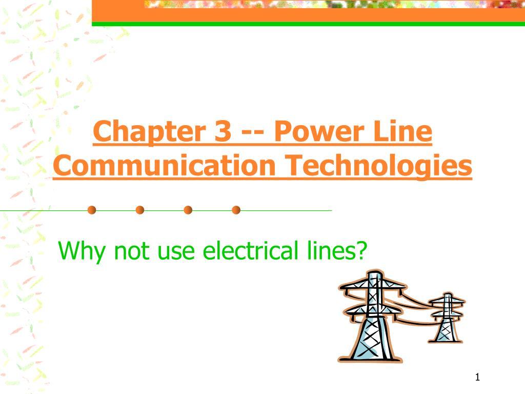chapter 3 power line communication technologies l.