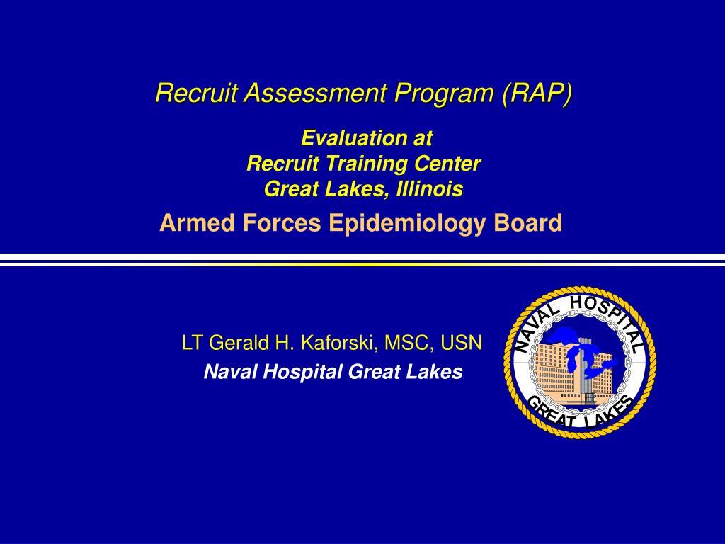 recruit assessment program rap evaluation at recruit training center great lakes illinois l.