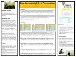 Peer Assessment of Oral Presentations Kevin Yee Faculty Center for Teaching & Learning, University of Central Florid