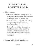 4.7 MULTILEVEL INVERTERS (MLI)