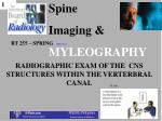 Spine  Imaging & MYLEOGRAPHY