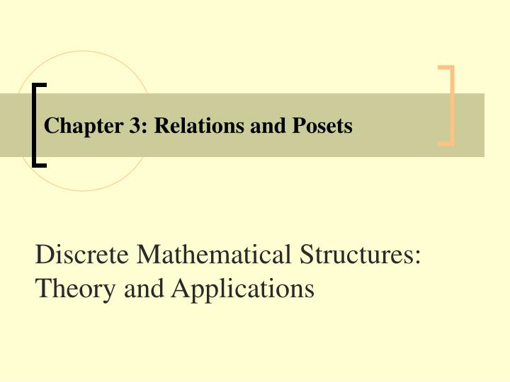 chapter 3 relations and posets n.