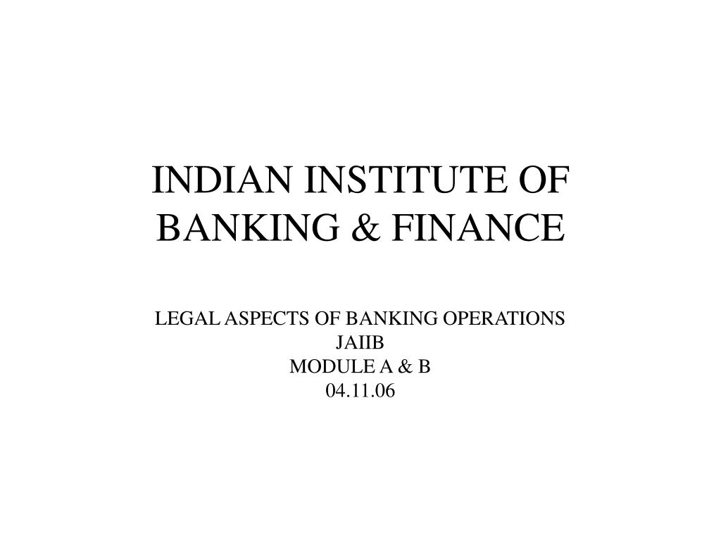 indian institute of banking finance l.