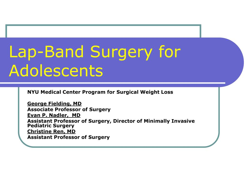 lap band surgery for adolescents l.