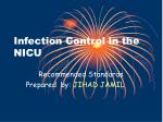 Infection Control in the NICU