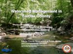Watershed Management in Fairfax County