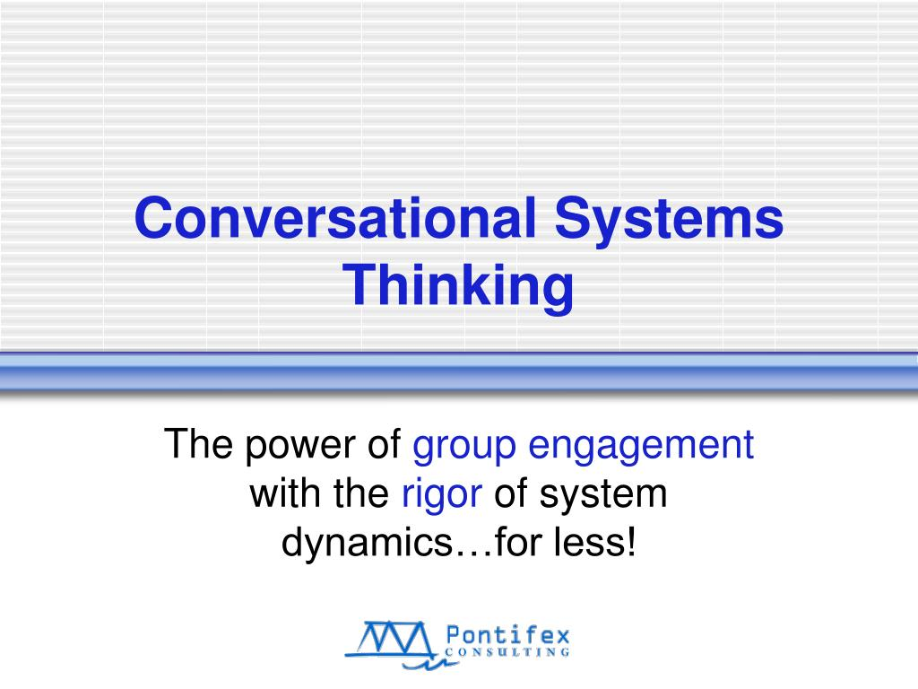conversational systems thinking l.