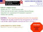 AKINS HIGH SCHOOL World History Room 167 Tutorials: T ~ F; 8:20 ~ 8:50