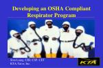 Developing an OSHA Compliant Respirator Program