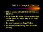 ISIS BioComp & TFR/Tox