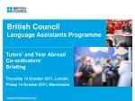 British Council Language Assistants Programme