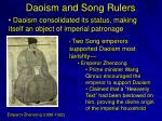 Daoism and Song Rulers