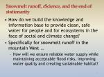 Snowmelt runoff, e Science , and the end of stationarity