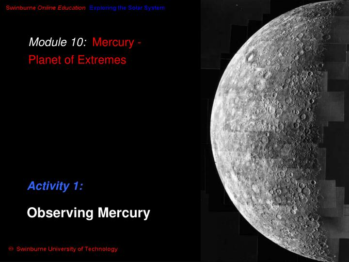 module 10 mercury planet of extremes n.