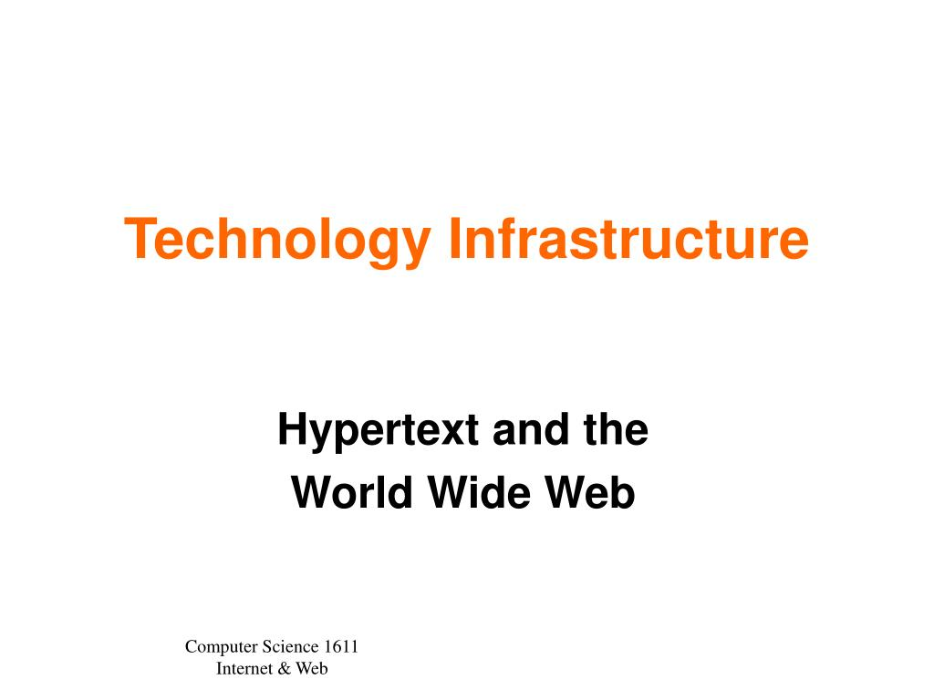 technology infrastructure l.