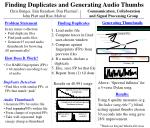Finding Duplicates and Generating Audio Thumbs