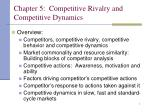 Chapter 5: Competitive Rivalry and Competitive Dynamics