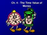 Ch. 4 - The Time Value of Money
