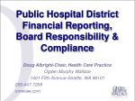 Public Hospital District Financial Reporting, Board Responsibility & Compliance