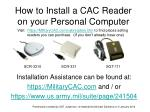 How to Install a CAC Reader on your Personal Computer