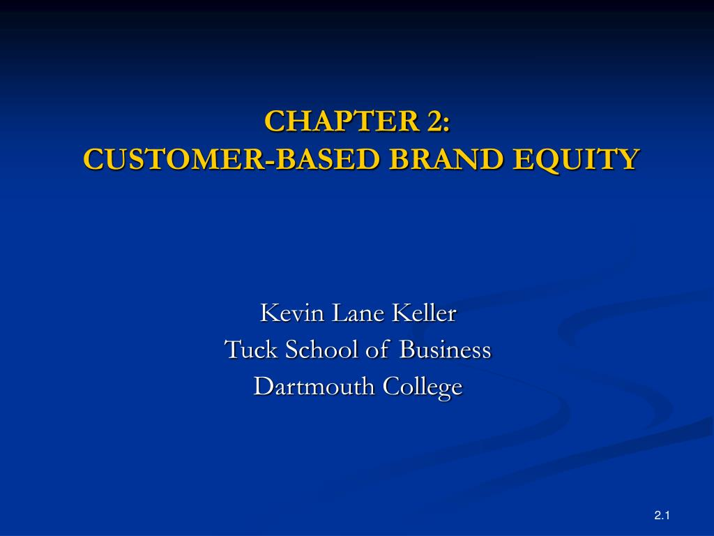 chapter 2 customer based brand equity l.