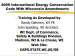 2009 International Energy Conservation Code With Wisconsin Amendments