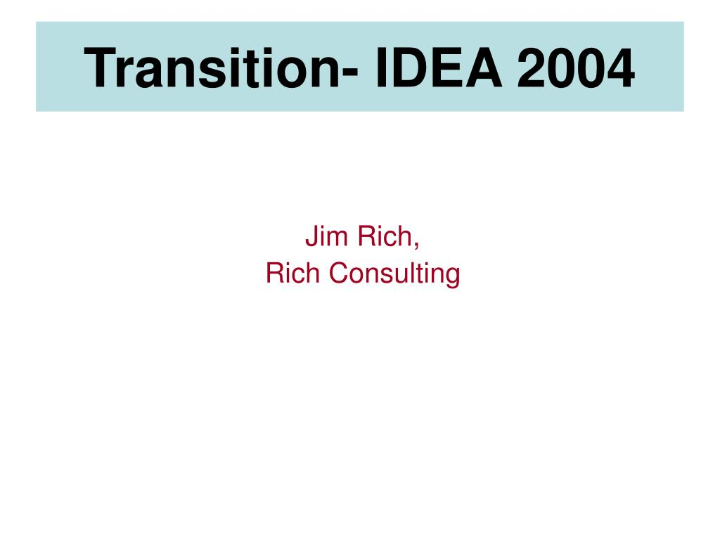 jim rich rich consulting l.