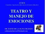 TEATRO Y MANEJO DE EMOCIONES