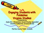 Engaging Students with Foldables Virginia Studies