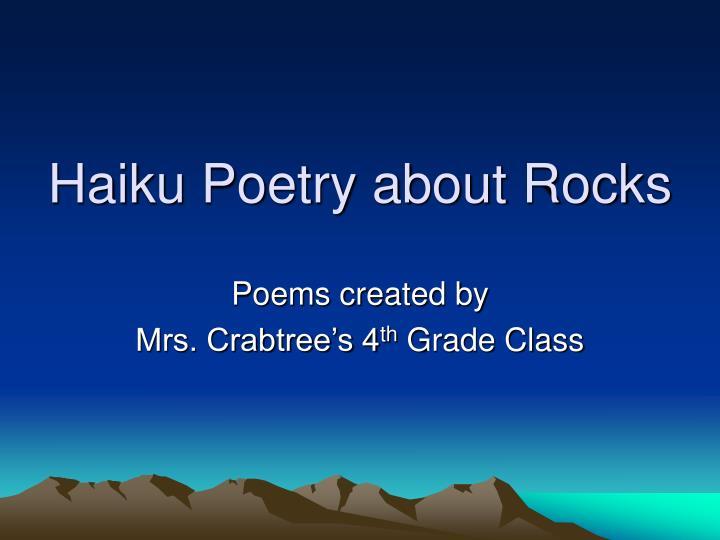 haiku poetry about rocks n.
