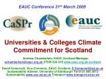 Universities & Colleges Climate Commitment for Scotland
