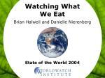Watching What We Eat