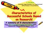 Characteristics of Successful Schools Based on Research!