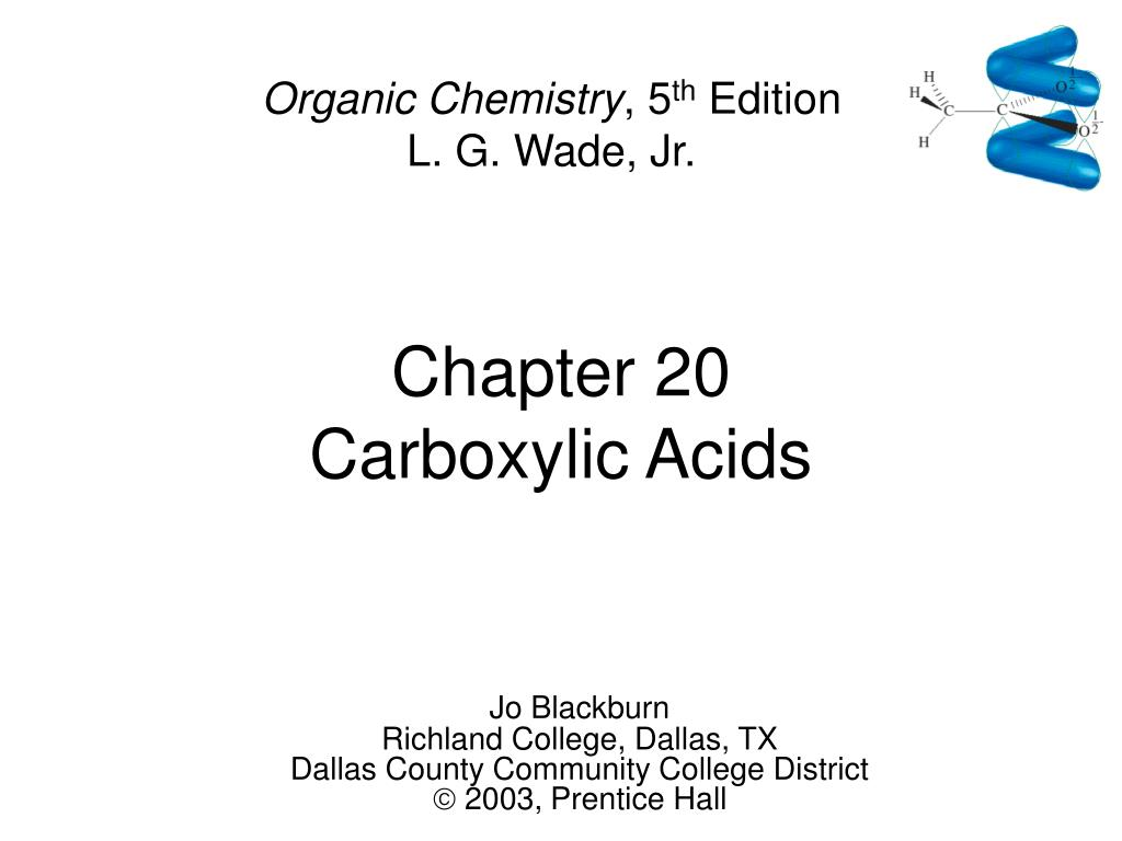 chapter 20 carboxylic acids l.